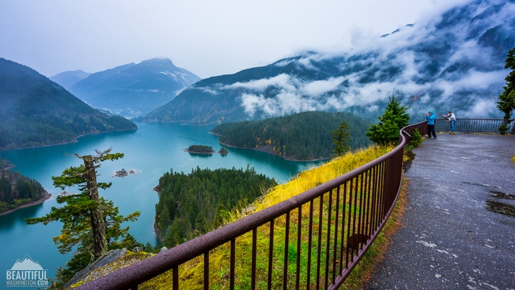 Photo from Diablo Lake Overlook taken in October, North Cascades Region