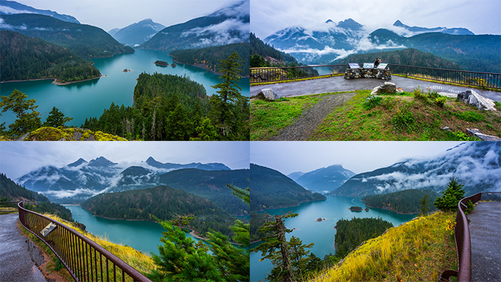 Diablo Lake Overlook in Autumn