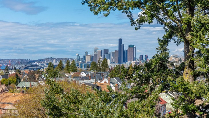 Photo taken from Jefferson Park, Beacon Hill, in South Seattle, Washington