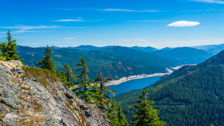 Photo of the Mount Catherine Trail and the views it provides, Snoqualmie Region, Washington State