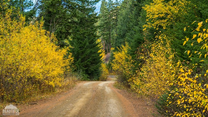 Photo from Mountain Home Road, taken in October; Leavenworth Area, Central Cascades Region