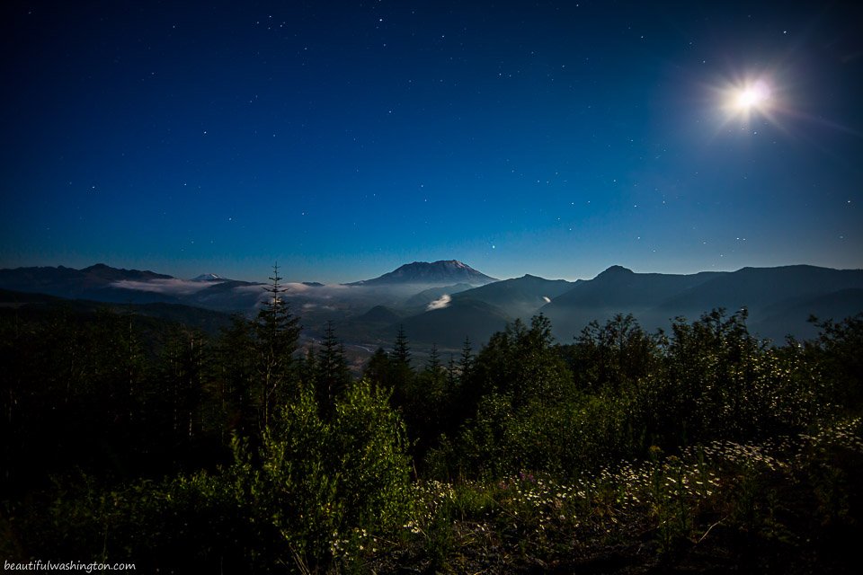 Photo of Mount St. Helens from Elk Rock Viewpoint