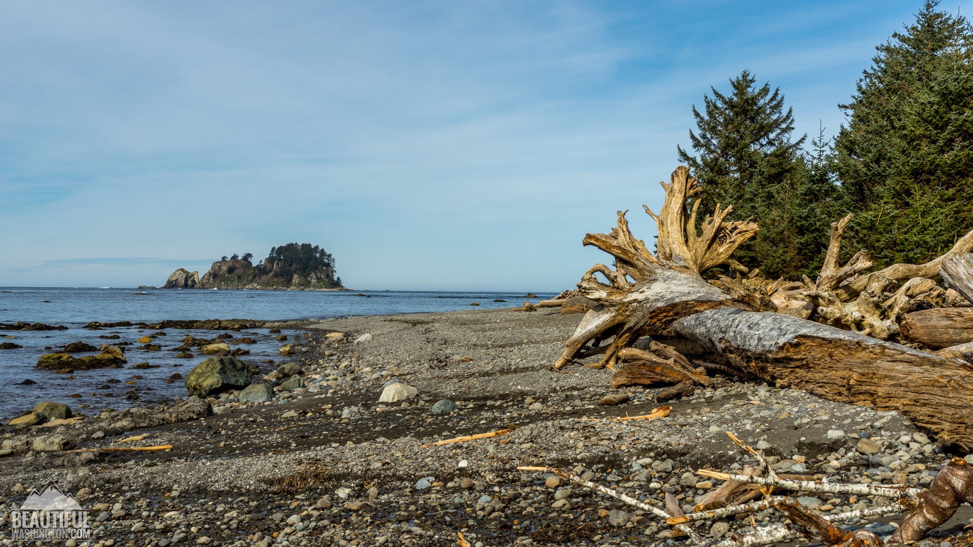 sunset at ozette triangle trail olympic national park wa