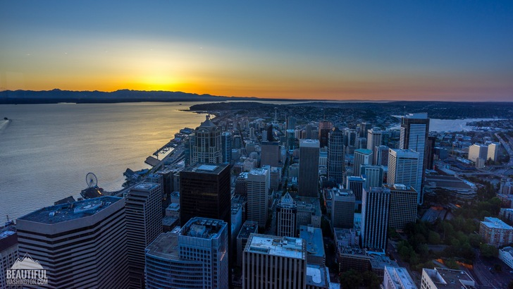 Photo from Sky View Observatory at Columbia Center, Seattle