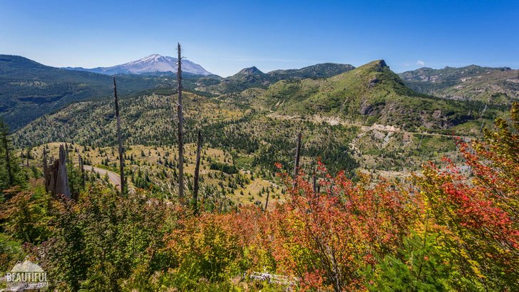 Photo taken from the trail, leading to Strawberry Mountain Lookout Site, Mount St. Helens National Monument, South Cascades