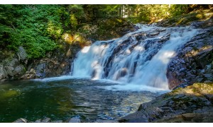 4K/HD Nature Relaxation Video: Denny Creek Falls - 3 hours