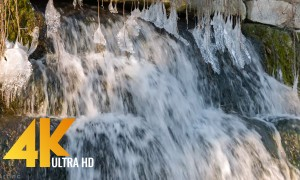 Falling Water - 4K Nature Relax Video with Waterfall Scenes and Nature Sounds