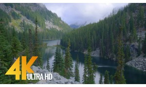 4K Nature Relax Video - Enchantment Lakes Are, Snow Lakes Trail, Central Cascades - 1 HR