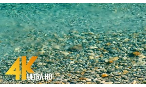 4K Soothing Relax Video - Clear Water - 1 HR