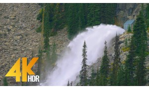 4K/4K HDR Nature Relax Waterfall Video - Enchantment Lakes Waterfalls - 3 HRS