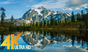 Fall Foliage Mount Shuksan - 5 Hours of Nature Relax 4K and 4K HDR Video - North Cascades, WA