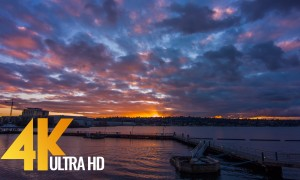 4K Sunset at Gene Coulon Memorial Beach Park - 3 HRS
