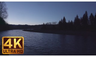 4K Relaxation Video: Hoh River. Early Morning - 1 HR