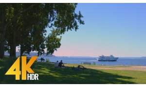 4K HDR/4K Cityscapes Video - Myrtle Edwards Park in Seattle