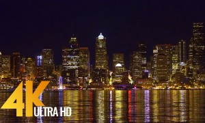 ULTRA HD Seattle Cityscapes - Night Seattle - 3 HRS