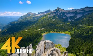 Pacific Northwest 4K - Beautiful Nature of Washington State - Leavenworth and Mt. Rainier - Part #3