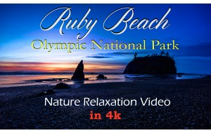 4K Nature Relaxation Video: Ruby Beach