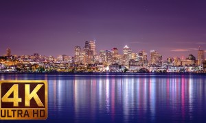 4K City Life/Urban Relax Video - View from Gas Works Park in Seattle, Episode 2
