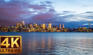 4K City Life/Urban Relax Video - View from Gas Works Park in Seattle, Episode 1