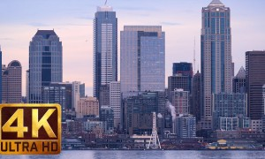 Views from Alki Beach - 4K Cityscapes Relax Video