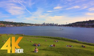 4K HDR/ 4K City Life/Urban Relax Video - View from Gas Works Park in Seattle, Episode 3