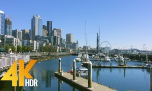 4K HDR/4K Cityscapes/City Life Video - Waterfront Park of Seattle, Downtown of Seattle - 5 HRS