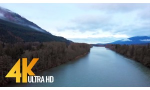 4K Drone Footage - Bird's Eye View of North Cascades in Washington State