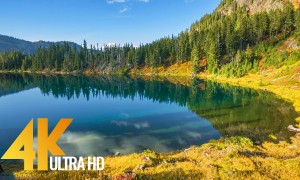 Amazing Scenery of the Chain Lakes Trail - 4K/4K HDR Nature Relax Video