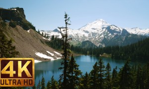 Mount Baker, Chain Lakes Trail - 4K nature relax video with soothing nature sounds - 3 HRS