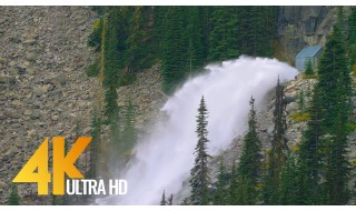 4K Nature Relax Waterfall Video - Enchantment Lakes Waterfalls - 3 HRS