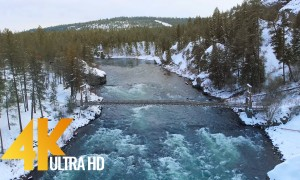 4K Drone Footage - Bird's Eye View of Snow-Covered Eastern Washington - 3 Hour Ambient Drone Film