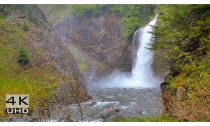 Franklin Falls, Snoqualmie Region - 4k Relax Video - 2 hours
