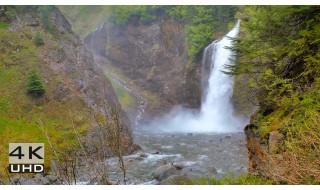 Franklin Falls, Snoqualmie Region - 4k Relax Video - 2 hours