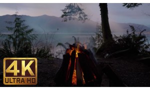 4K Relaxation Video - Campfire. Episode 4. 3 HRS