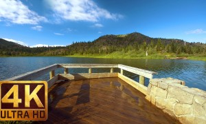 4K UHD Relaxation Video: Meta Lake at Mt. St. Helens Region, WA