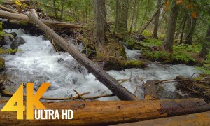 4K Nature Relax Waterfall Video - Enchantment Lakes Waterfalls. Episode 2- 3 HRS