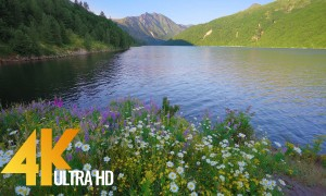 4K Nature Relax Video - Incredible Coldwater Lake Shores - 1 HR