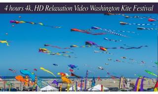 Washington State Kite Festival - 4K/HD Relaxation video - 4 hours