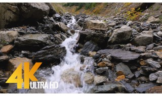 The Beauty of a Mountain Creek - 4K Nature Relax Video with Soothing Water Sounds - 1 HR