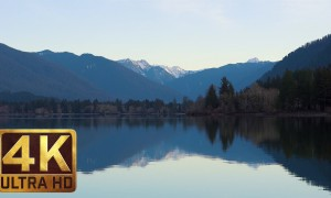 UHD Lake/Water Relax Footage - QUINAULT LAKE, OLYMPIC NATIONAL PARK - 2.5 HRS