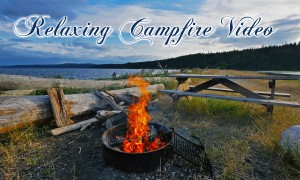 4K/HD Nature Relaxation Video: Campfire. Part 1 - 3 hours