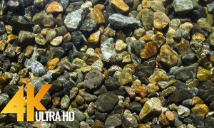 4K Super Long Relax Video with Nature Sounds - River Rocks