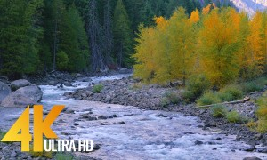 4K Nature Relax Video: Scenic Mountain River - 1 HR
