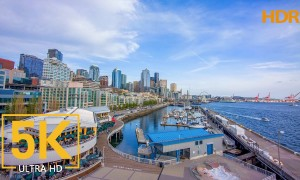 5K HDR Urban Seattle Footage - Pier 66, Seattle Downtown, Washington State-Top Seattle's Attractions