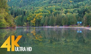 4K Lake Footage/Relaxation - Silver Lake at Mount Baker Area - 3 HRS