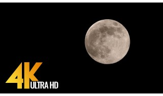 4K Supermoon - 4K Night Relax Video for Stress Relief and Fighting Insomnia