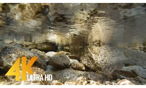 4K Water Footage with Nature Sounds - Under the Water. Part 2 - 2 HRS